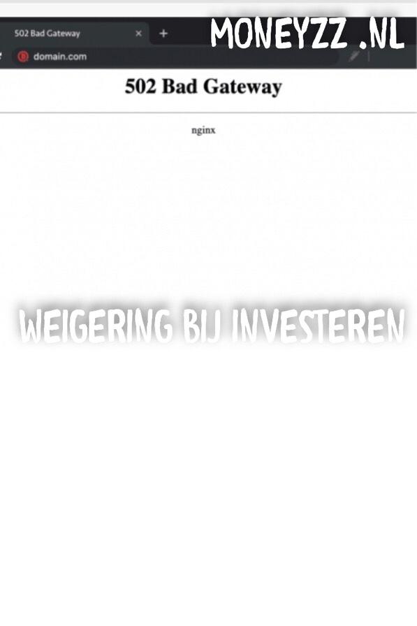 Weigering bij investeren