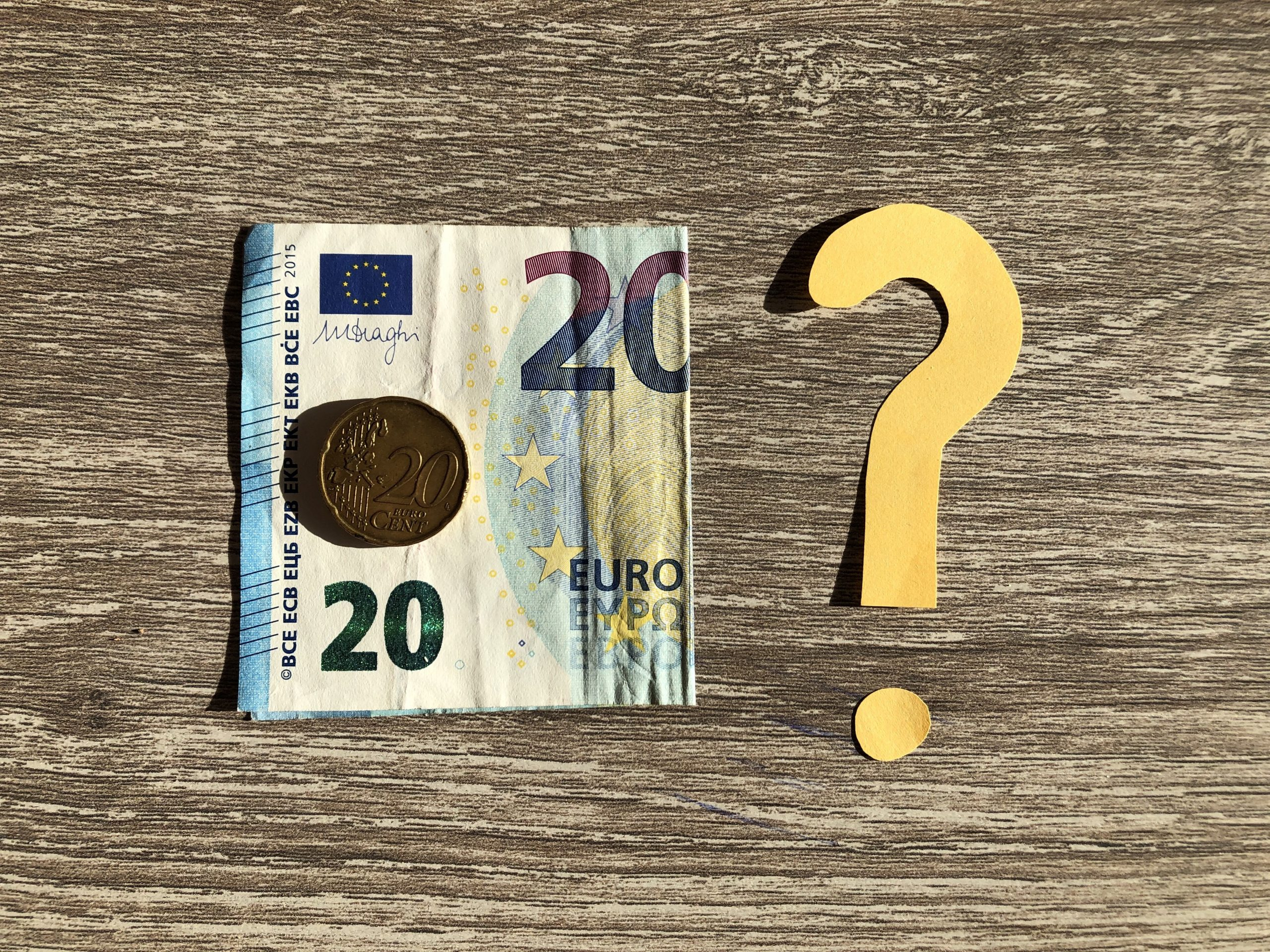 Bestemming 20,20 euro