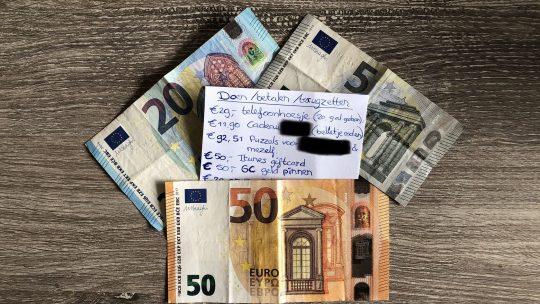 Geldlijstje gemaakt