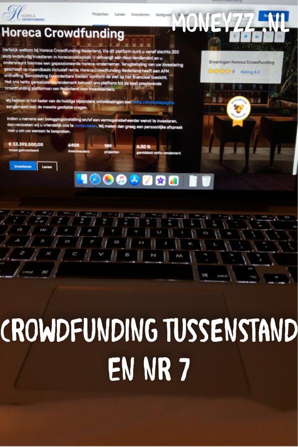 Crowdfunding tussenstand en nr 7
