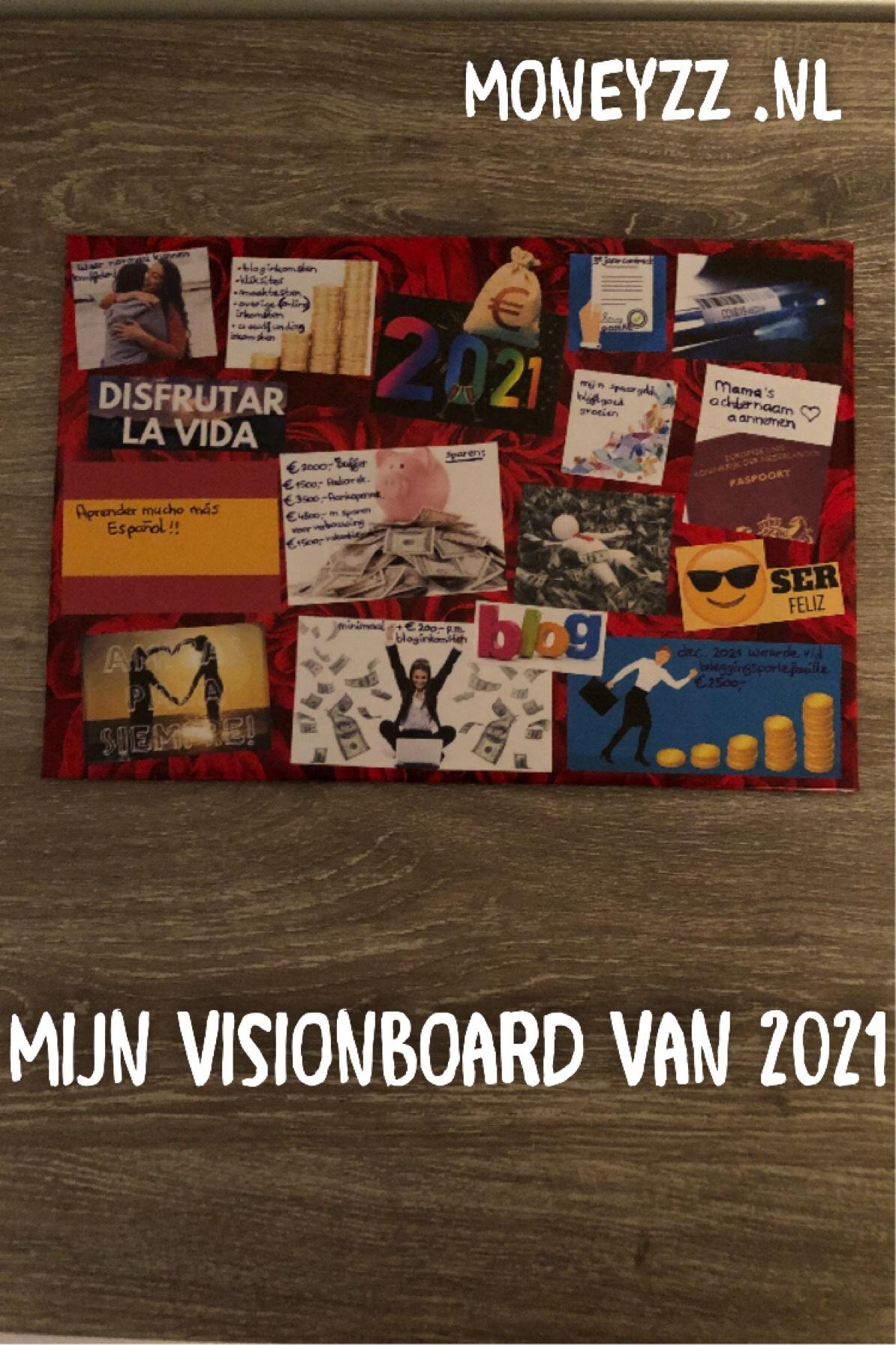 Mijn visionboard van 2021