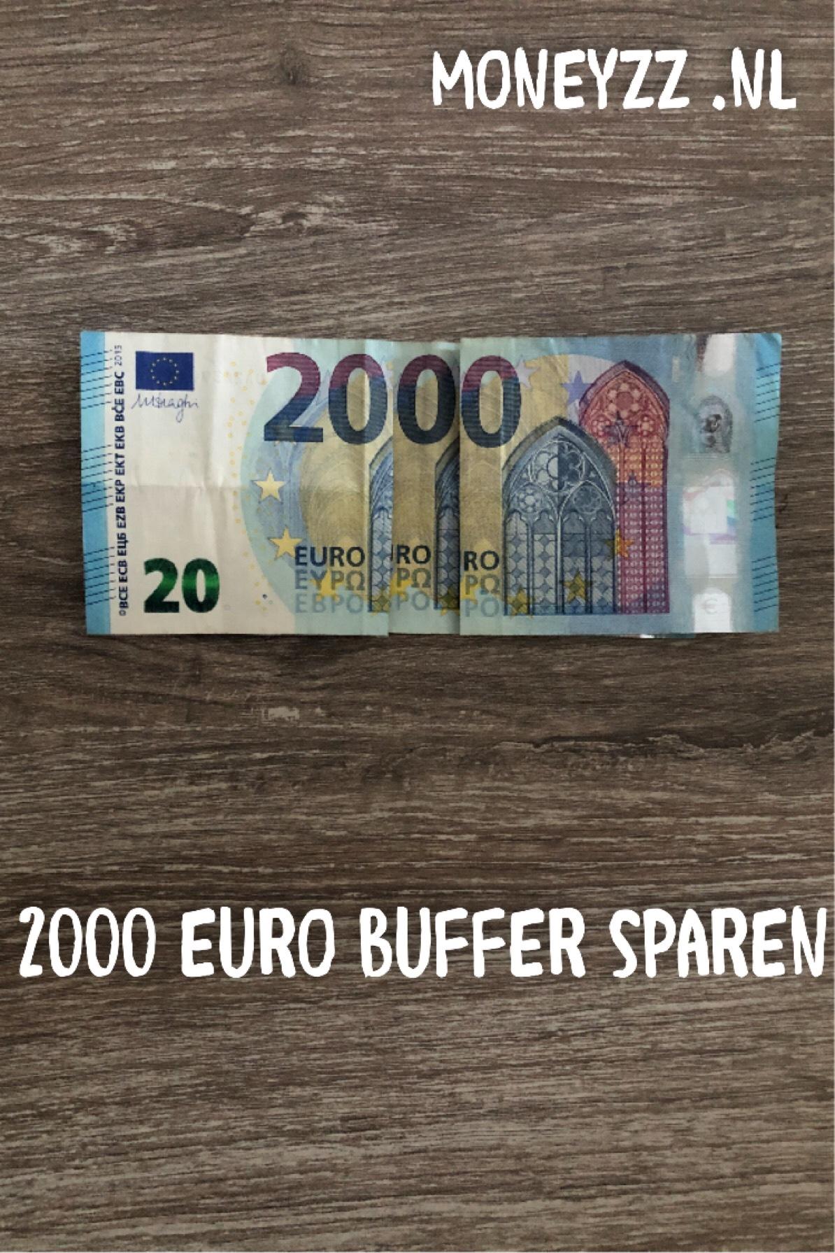 2000 euro buffer sparen