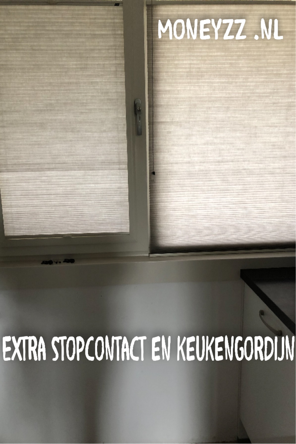 Extra stopcontact en keukengordijn