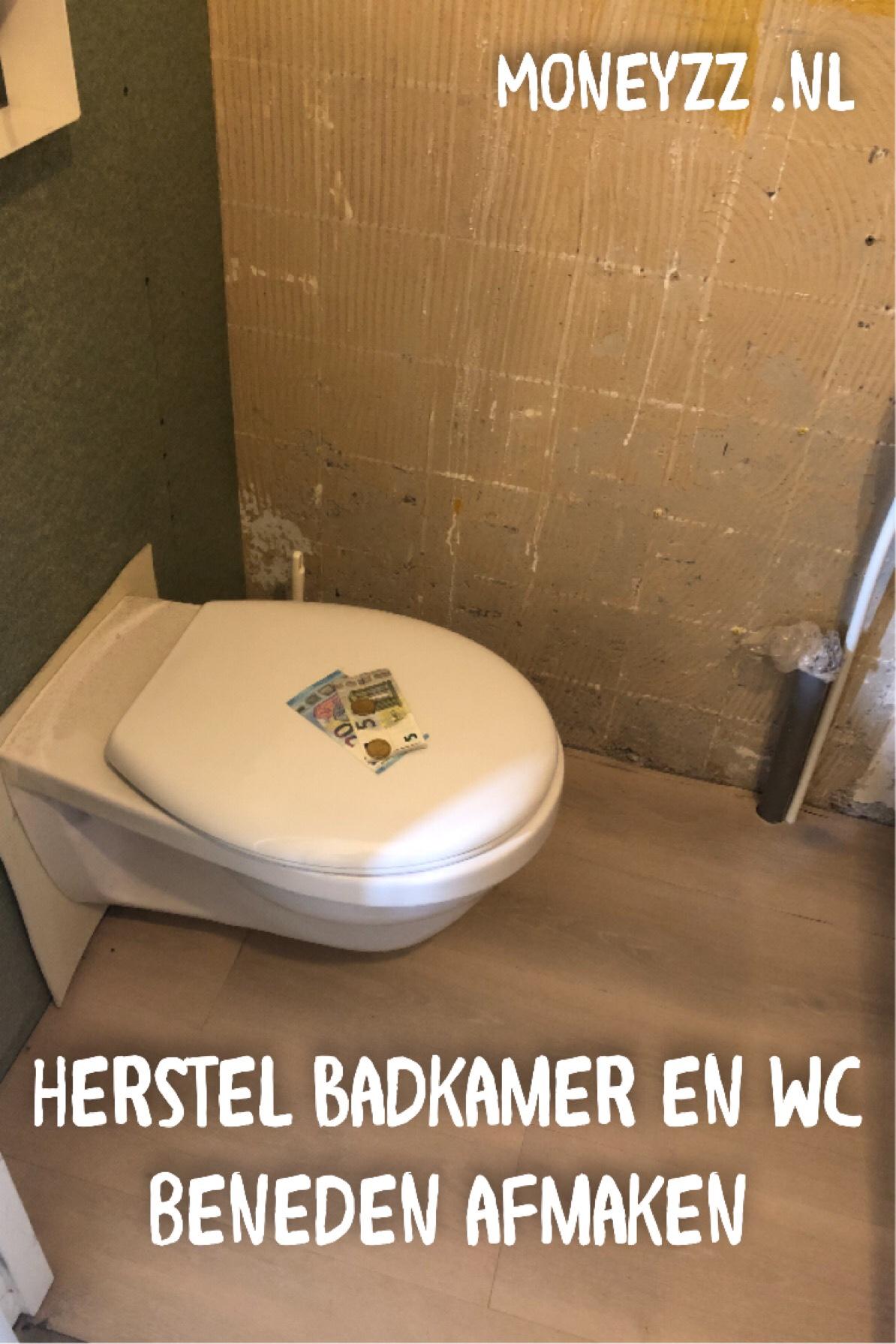 Herstel badkamer en wc beneden afmaken
