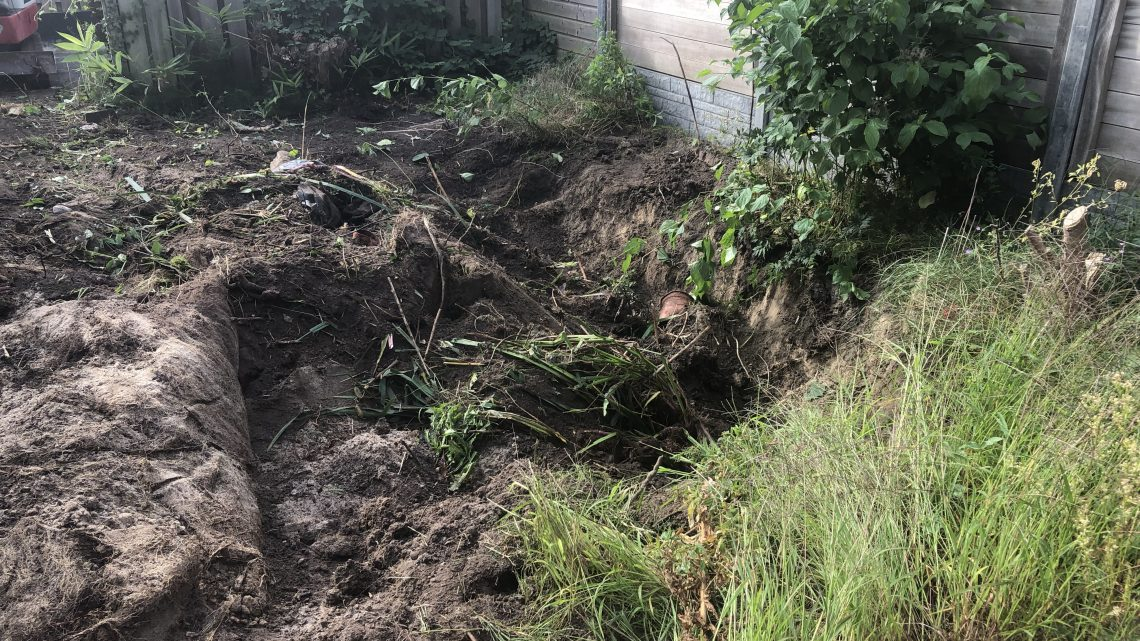 Tuinrenovatie is gestart