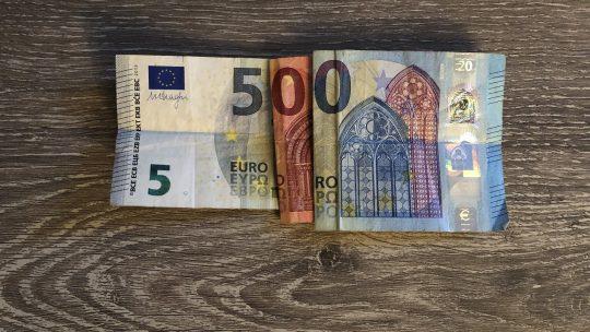 500 euro ontvangen!